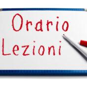 ORARIO PROVVISORIO DELLE LEZIONI DAL 18/02/2019