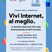 """Formazione docenti """"Vivi Internet al meglio""""  Google – Telefono Azzurro"""